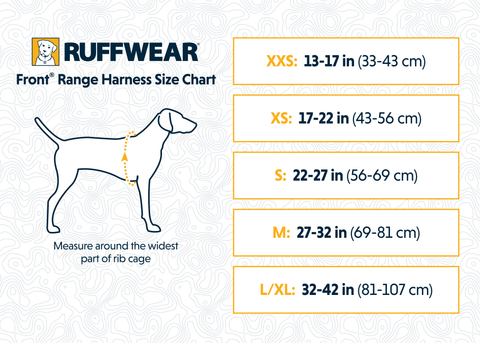 Ruffwear's Front Range Harness Sizing Guide