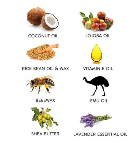 Text and images of ingredients
