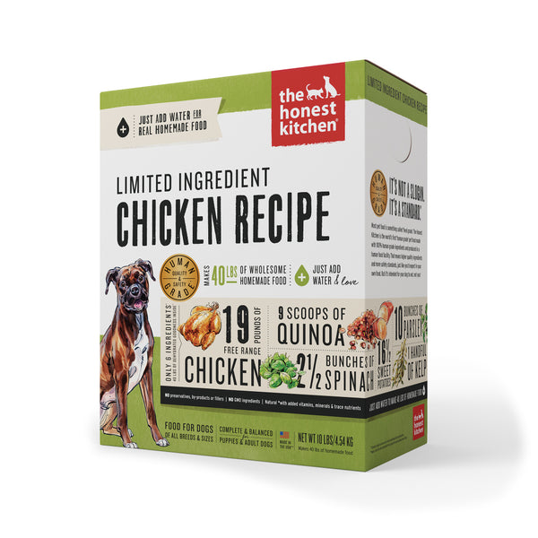 Limited Ingredient Chicken Recipe Dehydrated Dog Food