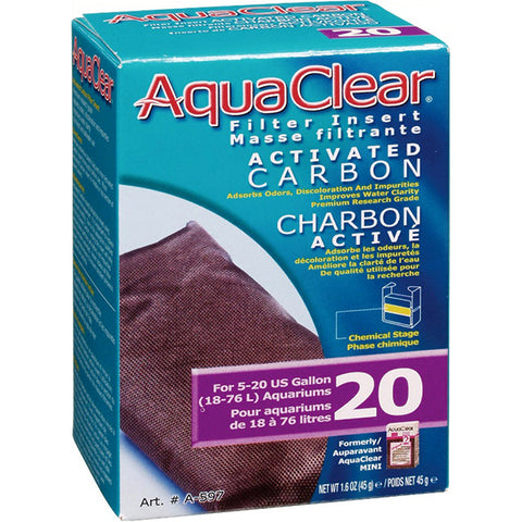 Activated Carbon Filter Insert for AquaClear 20 Power Filter