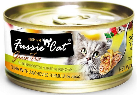 Premium Tuna with Anchovies Formula in Aspic Grain-Free Canned Cat Food