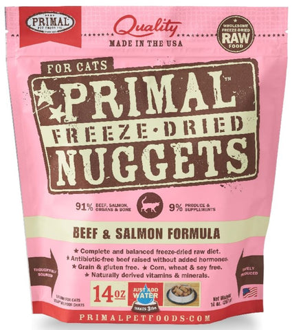 Freeze Dried Nuggets Grain-Free Beef and Salmon Formula Cat Food