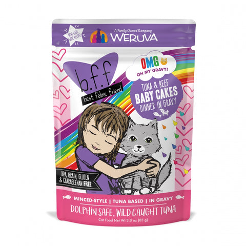 BFF Tuna and Beef Baby Cakes Recipe Pouches Wet Cat Food