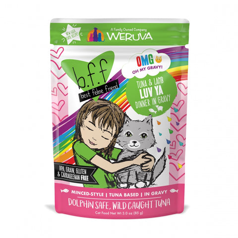 BFF Tuna and Lamb Luv Ya Recipe Pouches Wet Grain-Free Cat Food