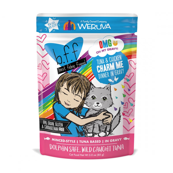 BFF Tuna and Chicken Charm Me Recipe Pouches Wet Grain-Free Cat Food