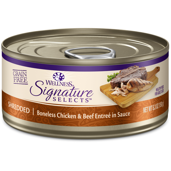Signature Selects Grain-Free Natural White Meat Chicken and Beef Entree in Sauce Wet Canned Cat Food