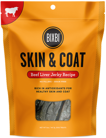 Bixbi Skin & Coat Beef Liver Jerky Dog Treats
