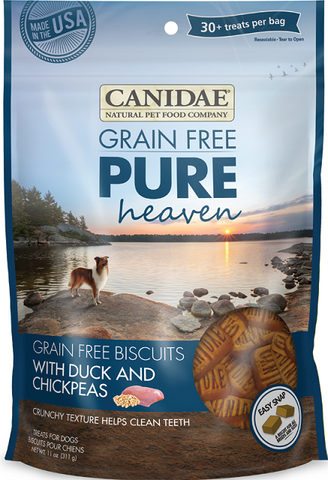 Grain-Free PURE Heaven Biscuits with Duck and Chickpeas Dog Treats