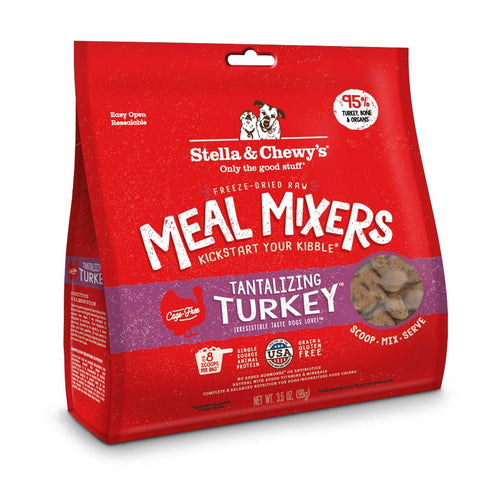 Freeze-Dried Raw Tantalizing Turkey Meal Mixers Grain-Free Dog Food Topper