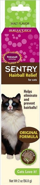 Malt Flavor Hairball Gel for Cats