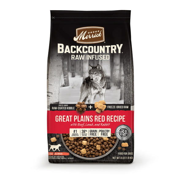 Backcountry Raw-Infused Grain-Free Great Plains Red Recipe Dry Dog Food