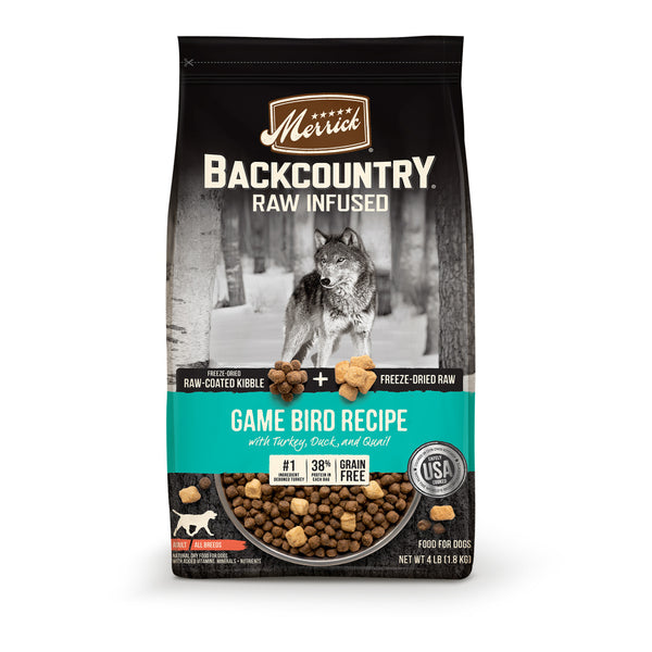 Backcountry Raw-Infused Grain-Free Wild Game Bird Recipe Dry Dog Food