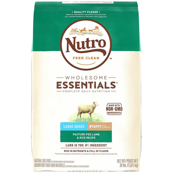 Wholesome Essentials Large Breed Puppy Pasture-Fed Lamb & Rice Dry Dog Food