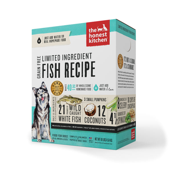 Limited Ingredient Grain-Free Fish Recipe Dehydrated Dog Food