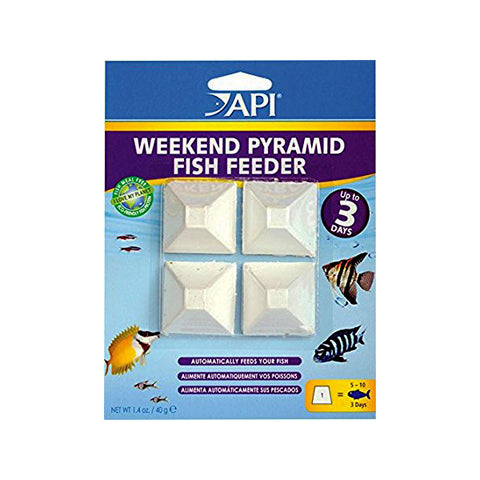 3-Day Weekend Pyramid Fish Food Feeder