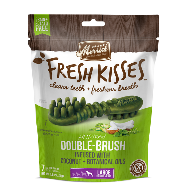 Fresh Kisses Grain-Free Coconut Oil and Botanicals Large Dental Dog Treats