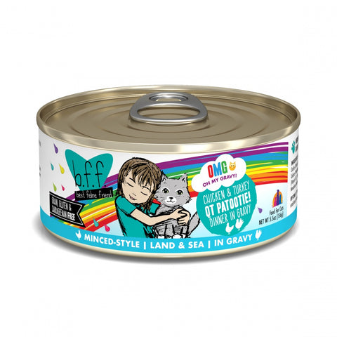 BFF Oh My Gravy QT Patootie Grain-Free Chicken and Turkey in Gravy Canned Cat Food