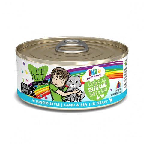 BFF Oh My Gravy Selfie Cam Grain-Free Chicken and Lamb in Gravy Canned Cat Food