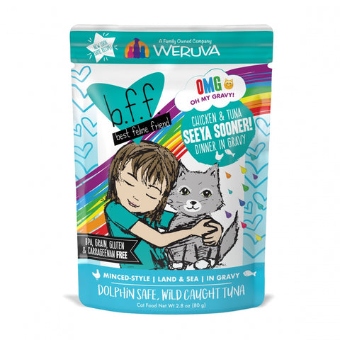 Weruva BFF Oh My Gravy Seeya Sooner Grain Free Chicken & Tuna in Gravy Canned Cat Food