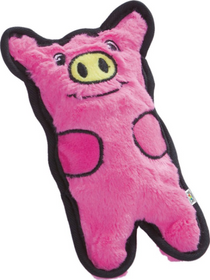 Invincible Minis Piggy Durable Squeaky Plush Dog Toy