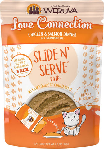 Slide N' Serve Grain-Free Love Connection Chicken & Salmon Dinner Wet Cat Food Pouch