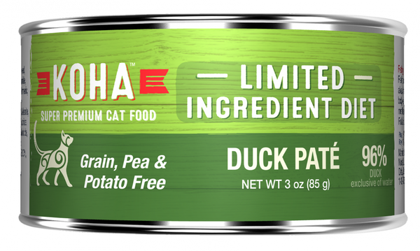 Limited Ingredient Diet Duck Pate Grain-Free Wet Canned Cat Food