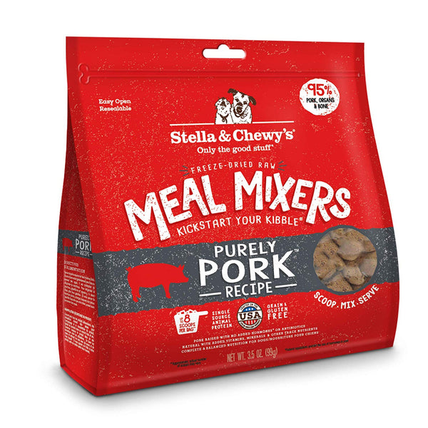 Purely Pork Grain-Free Meal Mixers Freeze-Dried Raw Dog Food