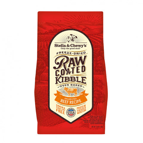 Stella & Chewy's Raw Coated Kibble Grass Fed Beef Recipe Dry Dog Food