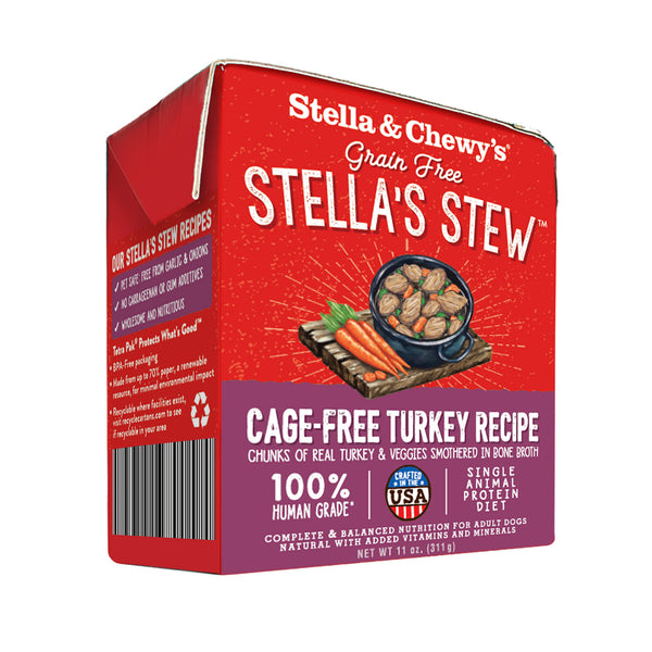 Stella's Stew Cage Free Turkey Recipe Wet Food for Dogs