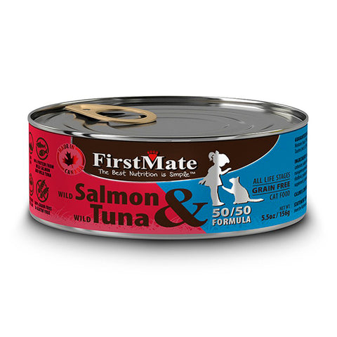 50/50 Wild Salmon & Wild Tuna Formula Grain-Free Wet Canned Cat Food