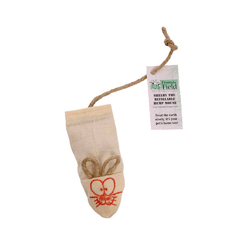Shelby the Hemp Mouse Refillable Organic Catnip Toy