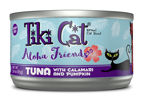 Aloha Friends Grain-Free Tuna with Calamari and Pumpkin Canned Cat Food