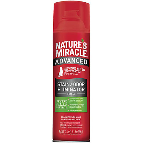 Advanced Stain & Odor Eliminator Foam Just for Cats