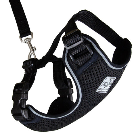 Adventure Kitty Harness & Leash Combo for Cats Black