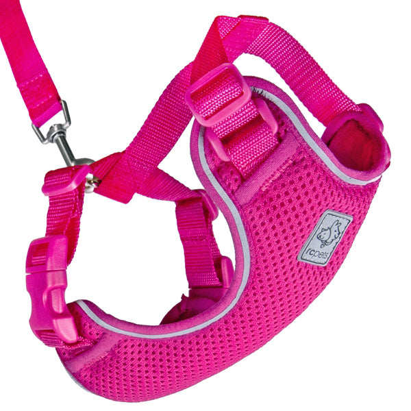 Adventure Kitty Harness & Leash Combo for Cats Raspberry