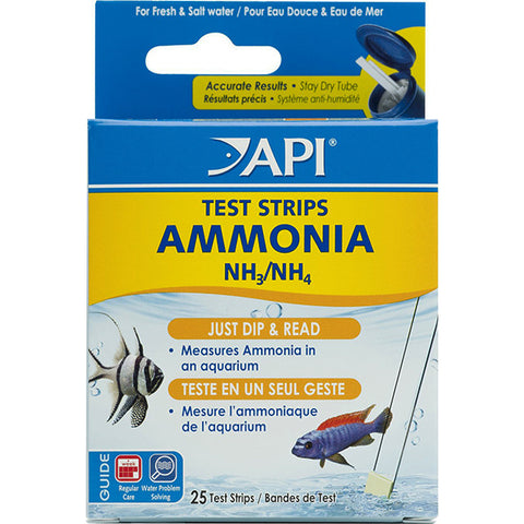 Ammonia ( NH3 & NH4 ) Aquarium Test Strips