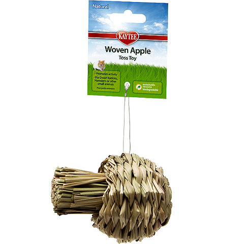 Woven Apple Sisal Small Animal Toss & Chew Toy