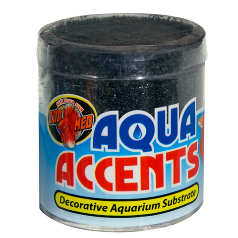 Aqua Accents Decorative Aquarium Substrate Pebbles Black