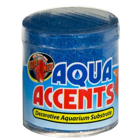 Aqua Accents Decorative Aquarium Substrate Pebbles Blue