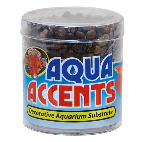 Aqua Accents Decorative Aquarium Substrate Dark River Pebbles