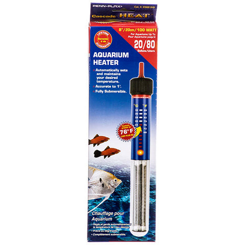Cascade Submersible Aquarium Heater 100 Watt 20 Gallon
