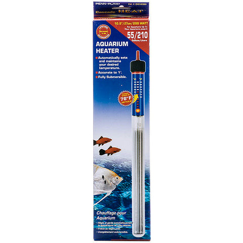 Cascade Submersible Aquarium Heater 200 Watt 55 Gallon
