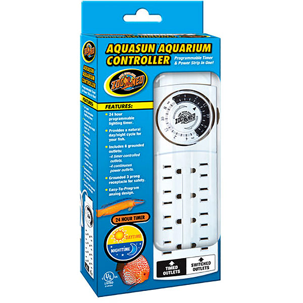 Aquasun Controller 24-Hour Programmable Aquarium Lighting Timer & Power Strip