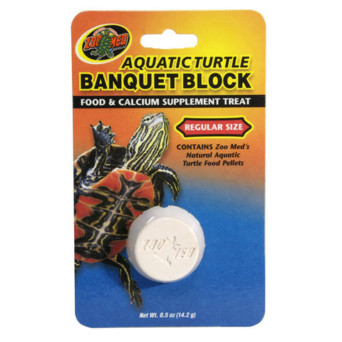 Aquatic Turtle Banquet Block Food & Calcium Supplement Treat