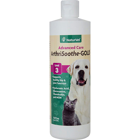 Advanced Care ArthriSoothe-GOLD Level 3 Hip & Joint Dog & Cat Supplement Liquid