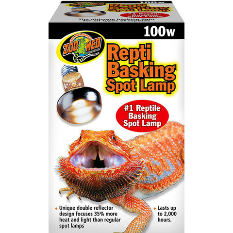 Repti Basking Spot Lamp Reptile UV Light & Heat Emitter 100 Watt