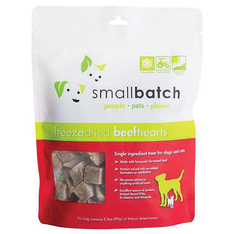 Freeze-Dried Beef Hearts Single Ingredient Dog Treats