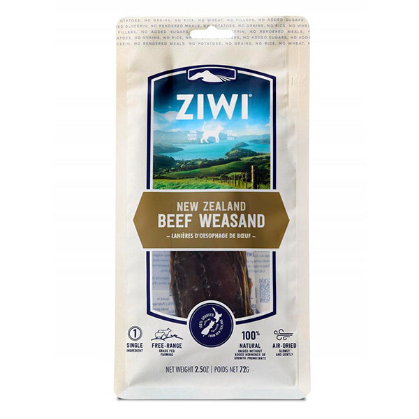 New Zealand Beef Weasand Grain-Free Air-Dried Jerky Dog Treat Chews