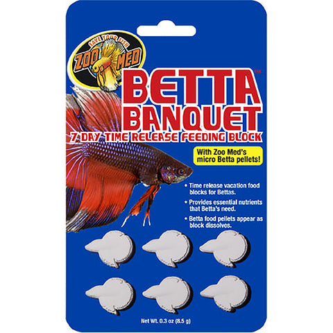 Betta Banquet Time Release Fish Food Block 7-Day