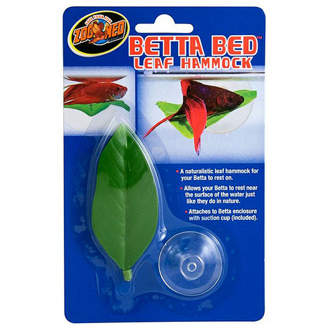 Betta Bed Leaf Hammock with Suction Cup Aquarium Decor